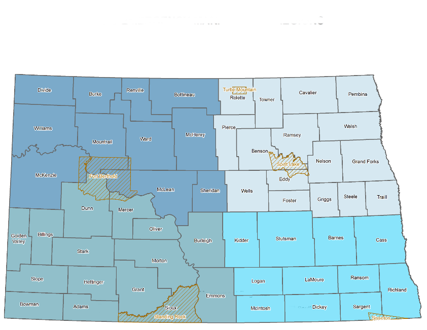 ND Emergency Management Regions